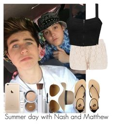 """Summer day with Nash and Matthew"" by irish26-1 ❤ liked on Polyvore featuring maurices, Element, 2b bebe, Topshop, PurMinerals, Ray-Ban, women's clothing, women, female and woman"