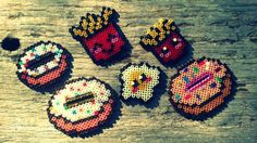 Food perler beads by Ponte dell'Arcobaleno bijoux & pyssla