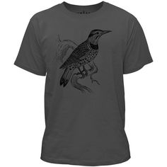 Mintage Lookout Bird Kids Fine Jersey T-Shirt