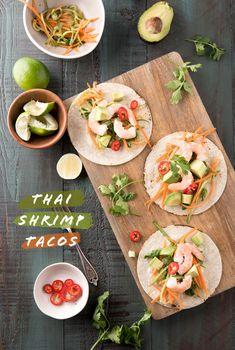 thai shrimp tacos | designlovefest