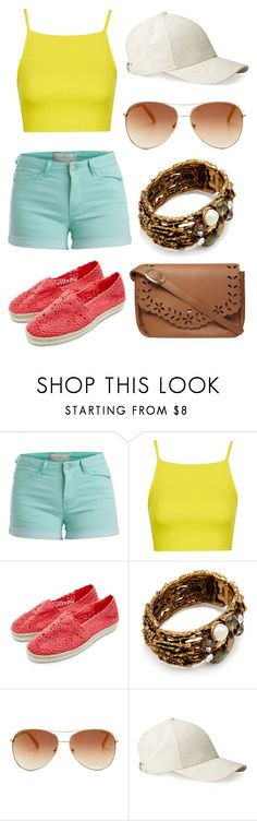 Mix & Match: Summer Outfit #36 by mscody on Polyvore featuring Topshop, Pieces, Dorothy Perkins, Oscar de la Renta, Whistles, Tommy Hilfiger, summerstyle and summerfashion