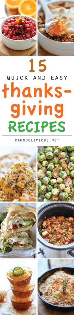 15 Quick and Easy Thanksgiving Recipes - Damn Delicious
