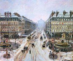 Avenue de l'Opéra by Camille Pissarro from the Hotel du Louvre, 1898