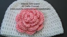 How To Crochet A 3 Layer Flower - YouTube