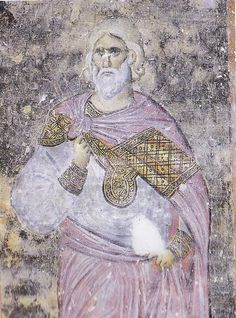 maestro Bizantino attivo in Serbia. figura di un martire. 1236 - 1238 Dubrovnik, Fresco, Disney Characters, Fictional Characters, Aurora Sleeping Beauty, Disney Princess, Art, Western World, Teachers