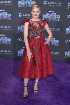 Meg Donnelly in Jovani at the world premiere of Black Panther #2018 #Premiere