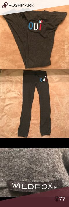 WildFox OUI Sweatpants /Joggers NWOT Brand new never worn. Has piling like most wildfox pieces . Super soft and  lightweight Wildfox Pants Track Pants & Joggers