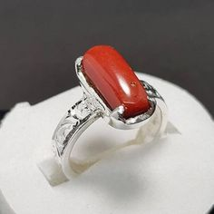 Sizable Fantasy Red Garnet Quartz Handmade Jewellry 925 Sterling Silver Plated 7 Grams Ring Size 8 US