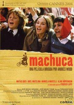 Machuca [Vídeo]/ una película dirigida por Andrés Wood. Ficha artístico-técnica: http://www.filmaffinity.com/es/film713463.html  Signatura: CINE (ARQ) 285   Na biblioteca: http://kmelot.biblioteca.udc.es/record=b1374002~S1*gag