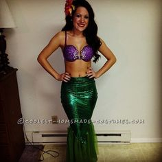 Disney Character Costume Disney Character Costumes - Thousands of awesome ideas for homemade costumes and how-to tutorials for Halloween! Find the inspiration you need to create the coolest DIY costume ever! Little Mermaid Costumes, Ariel Costumes, Little Mermaid Parties, The Little Mermaid, Couple Costumes, Adult Costumes, Group Costumes, Character Costumes, Rapunzel Costume
