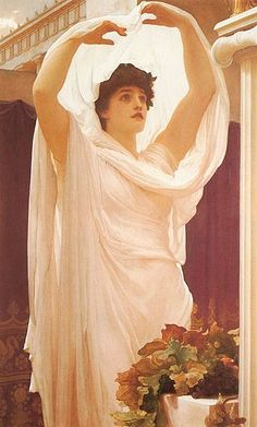 Vestal - Frederic Leighton ; in ancient roman religion , vestal virgins were priestesses of Vesta, the goddess of the Hearth