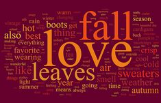 I love Autumn/Fall. My favorite time of year.