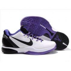 Nike Zoom Kobe VI Mens Basketball Shoe White Purple Black whoooooo I love these