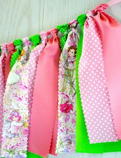 Pink Fairy Fabric Tie Garland