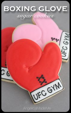 Boxing Glove Sugar Cookies by AngelicaMadeMe