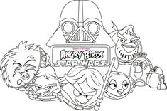 angry birds star wars printable coloring pages - Google Search