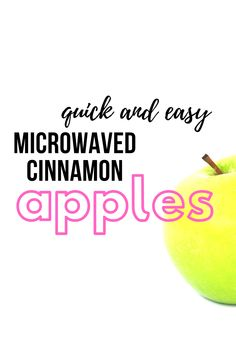 Baked apples are delicious, healthy dessert. Make them super quick and easy in the microwave with this delicious recipe. Apple Recipes, Holiday Recipes, Great Recipes, Snack Recipes, Recipe Ideas, Easy Recipes, Baked Apples, Cinnamon Apples, Learn To Cook