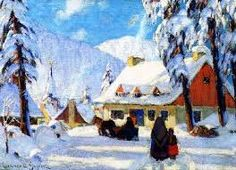 The Athenaeum - Winter in the Laurentians, Quebec (Clarence Gagnon - ) Canadian Painters, Canadian Artists, Impressionist Paintings, Landscape Paintings, Clarence Gagnon, Of Montreal, Winter Landscape, Watercolor Print, Illustration Art