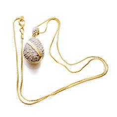 Colar com zircônia, formato gota, faixa de metal e banhado a ouro 18k. R$ 54,00. #pesodejoia #semijoia #colar