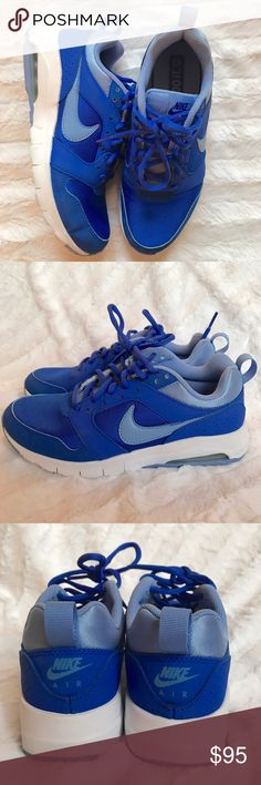 NIKE AIR MAX Royal blue air max ~ worn once ~ EXCELLENT CONDITION Nike Shoes Athletic Shoes