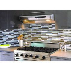 """Smart Tiles Mosaik Milano Argento Dual Finish 11.55"""" x 9.63"""" Peel & Stick Mosaic Wall Tile in Silver, Gray and Brown"""