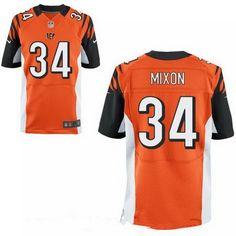 2017 NFL Draft Cincinnati Bengals #34 Joe Mixon Orange Team Color Stitched NFL Nike Elite Jersey
