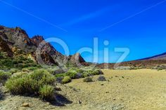 Qdiz Stock Images Mountains landscape on Tenerife island,  #blue #Canary #day #island #landmark #landscape #mountain #national #nature #park #rock #sky #Spain #spring #summer #Teide #Tenerife #Travel #view