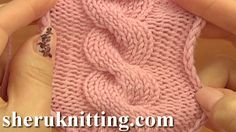 EASY TO KNIT CABLE STITCH http://sheruknitting.com/knitting-stitch/knitting-stitch-patterns/item/674-easy-to-knit-cable-stitch.html Tutorial 12. In this knitting video tutorial you will learn how to knit a simple cable stitch C8F, which means cable 8 front.