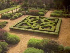 Buxus Sempervirens, a very popular and versatile plant for small hedges as in this knot garden Garden Hedges, Topiary Garden, Back Gardens, Small Gardens, Herb Garden, Garden Paths, Ground Cover Shade, Evergreen Groundcover, Garden Drawing