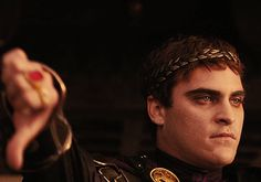 Gladiator.  Joaquin Phoenix was equally excellent in this movie.
