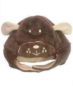 Bear Patch Brown Fur Cap