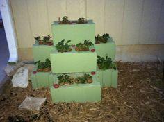 cinderblock strawberry planter
