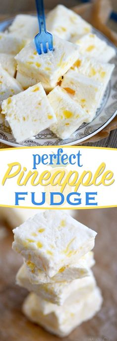 If you love pineapple OR fudge, you're going to go crazy for this PERFECT PINEAPPLE FUDGE! It's my new favorite thing and it's going to be yours too! // Mom On Timeout