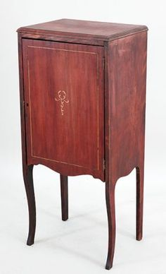 An Inlaid Wood Music Cabinet. : Lot 152-1049