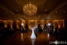 Crystal Chandeliers add a touch of elegance in the Grand Ballroom at Trump National Golf Club Los Angeles