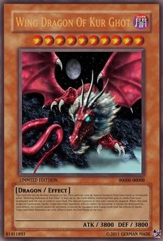 dragon type monster - Realistic Cards - Single Cards - Yugioh Card ...