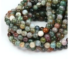 Indian Agate Beads, 6mm Round