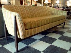 striped danish sofa