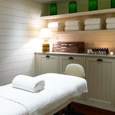 Lovely sleek simple treatment rooms