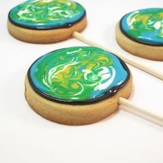 Earth Day cookies by thedecoratedcookie, via Flickr