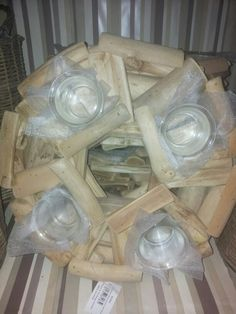 Stick wood together to make candle holders  The Range