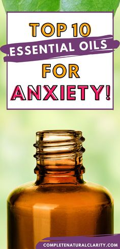 Learn all about the top 10 Essential Oils for Anxiety Relief & Reducing Stress! Aromatherapy is one of nature's many gifts that has the ability to calm the mind, reduce stress hormones, enhance concentration, & motivate us to get through trying times! Click to learn more and be inspired to conquer anxiety with these natural remedies in herbal medicine! Alternative Medicine | Mental Health | Anxiety Relief Tips #anxiety #essentialoils