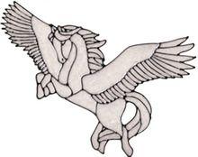 Flying Pegasus Window Cling