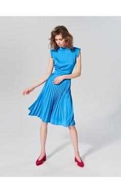 LADIES` DRESS, Rochii, albastru, RESERVED