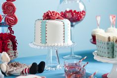 A Raggedy Ann birthday....I would have loved this party. Check out the pb&j sammies wrapped in cardstock! What a great idea to bring out the colors in your theme!