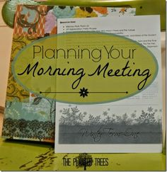 Planning Your Morning Meeting - ideas for an intentional morning time - how to plan your own homeschool morning meeting.
