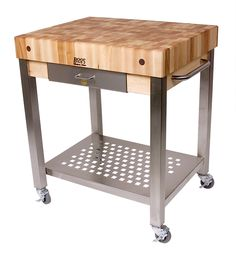 rolling butcher block cart - Google Search