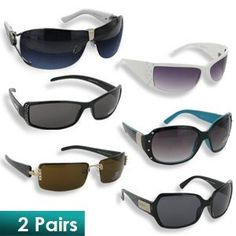 e223f6e49d18 Assorted Women s Fashion Sunglasses Inspired by Famous Designers (2 Pairs)  Includes two pairs of