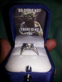 A very nerdy Yoda marriage proposal...but quite funny.