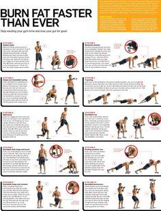 Spartacus workout: 1 minutes each set, 15 seconds between sets, 2 minutes between circuits, 2-3 circuits.